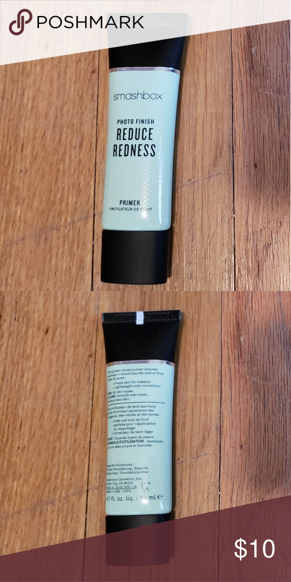 Smashbox reduce redness primer small used Used only once