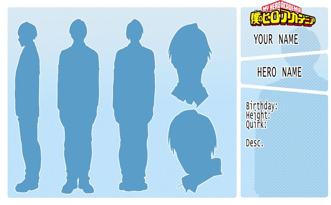 F2u Bnha Character Reference Template By Seungcheol Dbdw66c Random