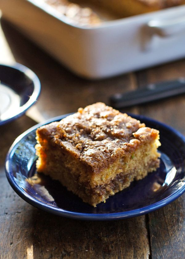 Cinnamon Sugar Zucchini Coffee Cake Pinch Of Yum Recipe Coffee Cake Desserts Cake Recipes