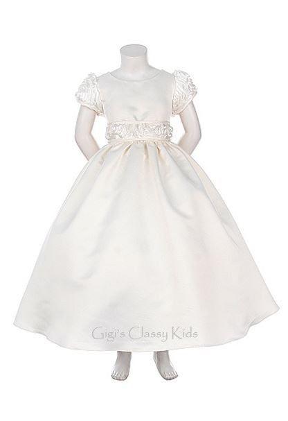 New Ivory Satin Flower Girls Dress Easter Party Christmas Holidays Fancy 1043KK  #DressyHolidayPageantWedding