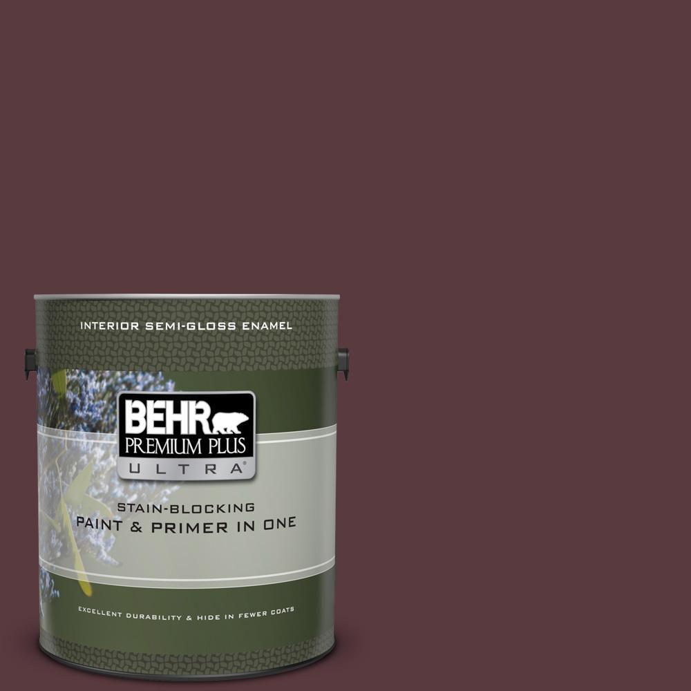 Behr Premium Plus 8 Oz Mq1 49 Raspberry Truffle Flat Interior Exterior Paint And Primer In One Sample Behr Paint Primer Exterior Paint