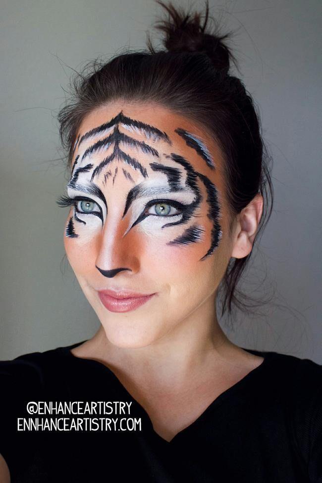 Cat Costume Makeup, Diy Tiger Costume, Cat Costumes, Zombie Makeup, Fantasy Makeup