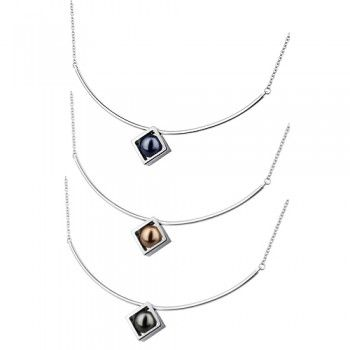 Check out this Stainless Steel Ornamental Pearl Necklace in just 25.60$.