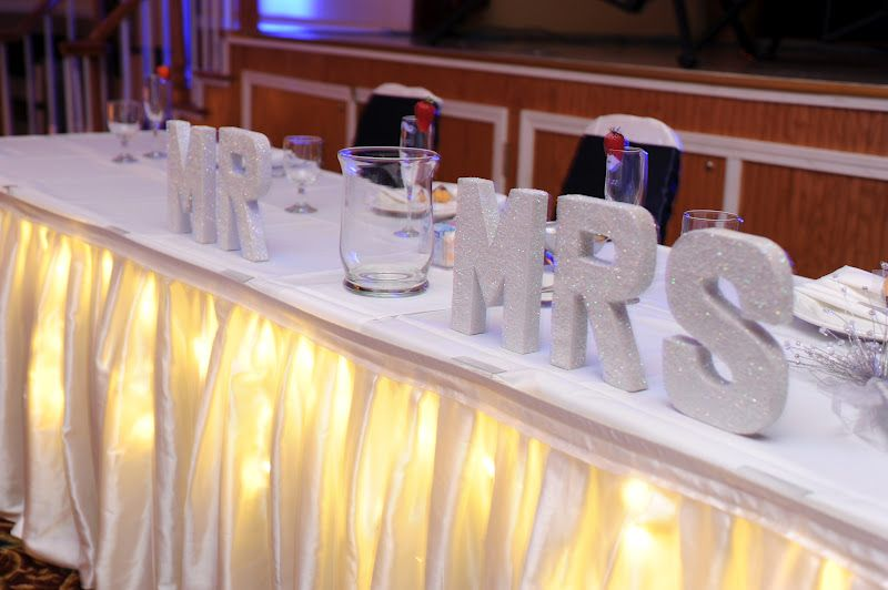 mr and mrs sign for the head table