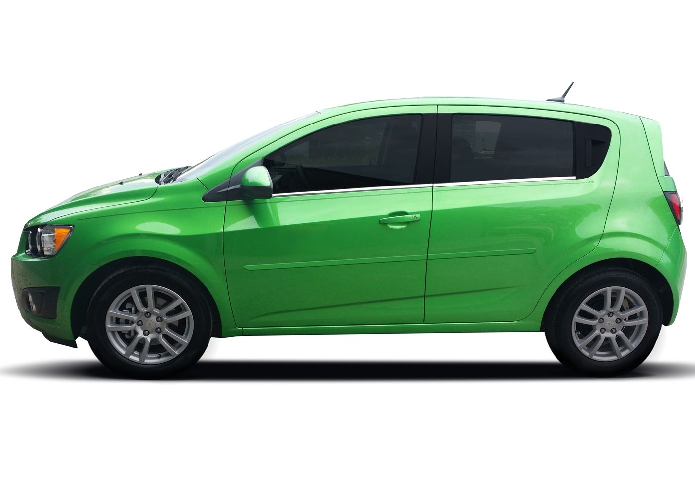 Color Green O Clock Metallic For Chevy Sonic Painted Body Side