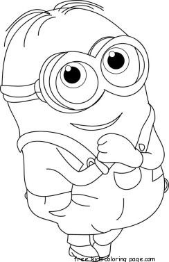 The Minions Dave Coloring Page For Kids Minion Coloring Pages