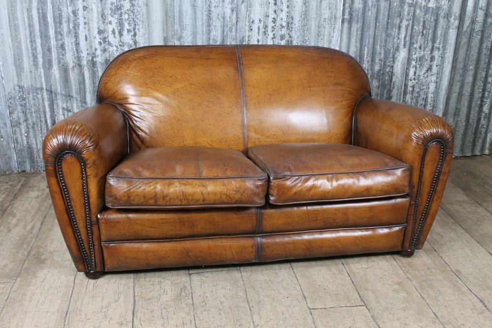 Fairmont Vintage Style Leather Sofa For Two Art Deco Industrial Style Vintage Style Leather Sofa Antique Style Sofa Leather Armchair