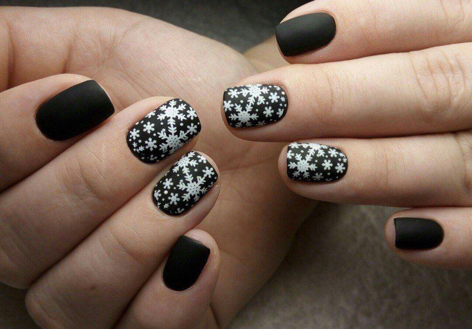 Nail Art #3126 - Best Nail Art Designs Gallery   Matte black nails ...