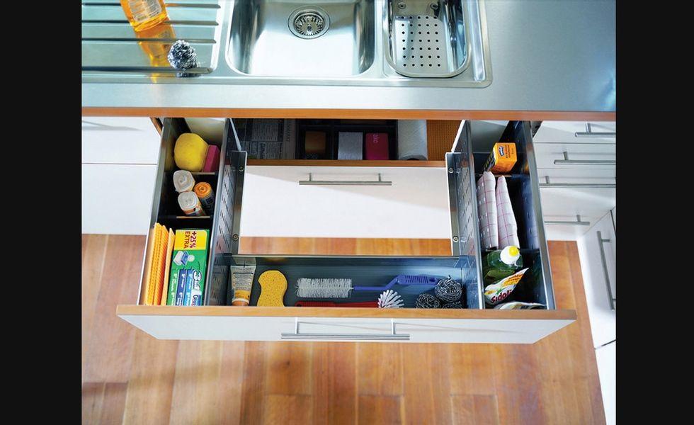 tiroirs de rangement sous vier rangement pour armoires de cuisine accessoires de cuisine. Black Bedroom Furniture Sets. Home Design Ideas