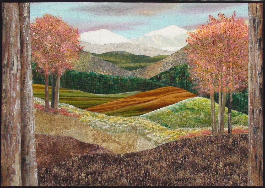 Landscape Quilts Google Search Landscape And Fabric
