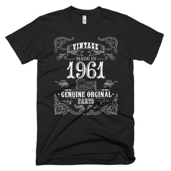 Made in 1961 Aged to perfection Short sleeve men's t-shirt