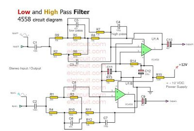 low and high pass filter circuit circuit diagram circuits and rh pinterest com Telephone Block Diagram First Telephone Schematics