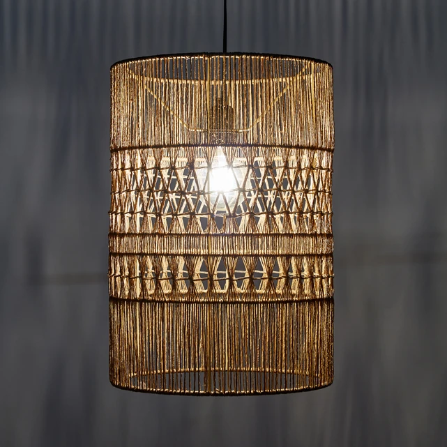 Rustic Wire Basket and Wood Chandelier Shades of Light