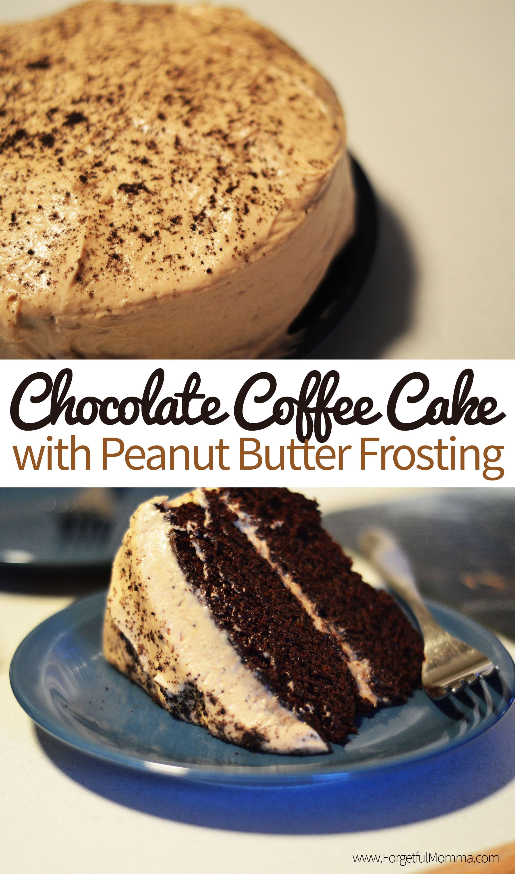 Chocolate Coffee Cake With Peanut Butter Frosting Recipe Sweet