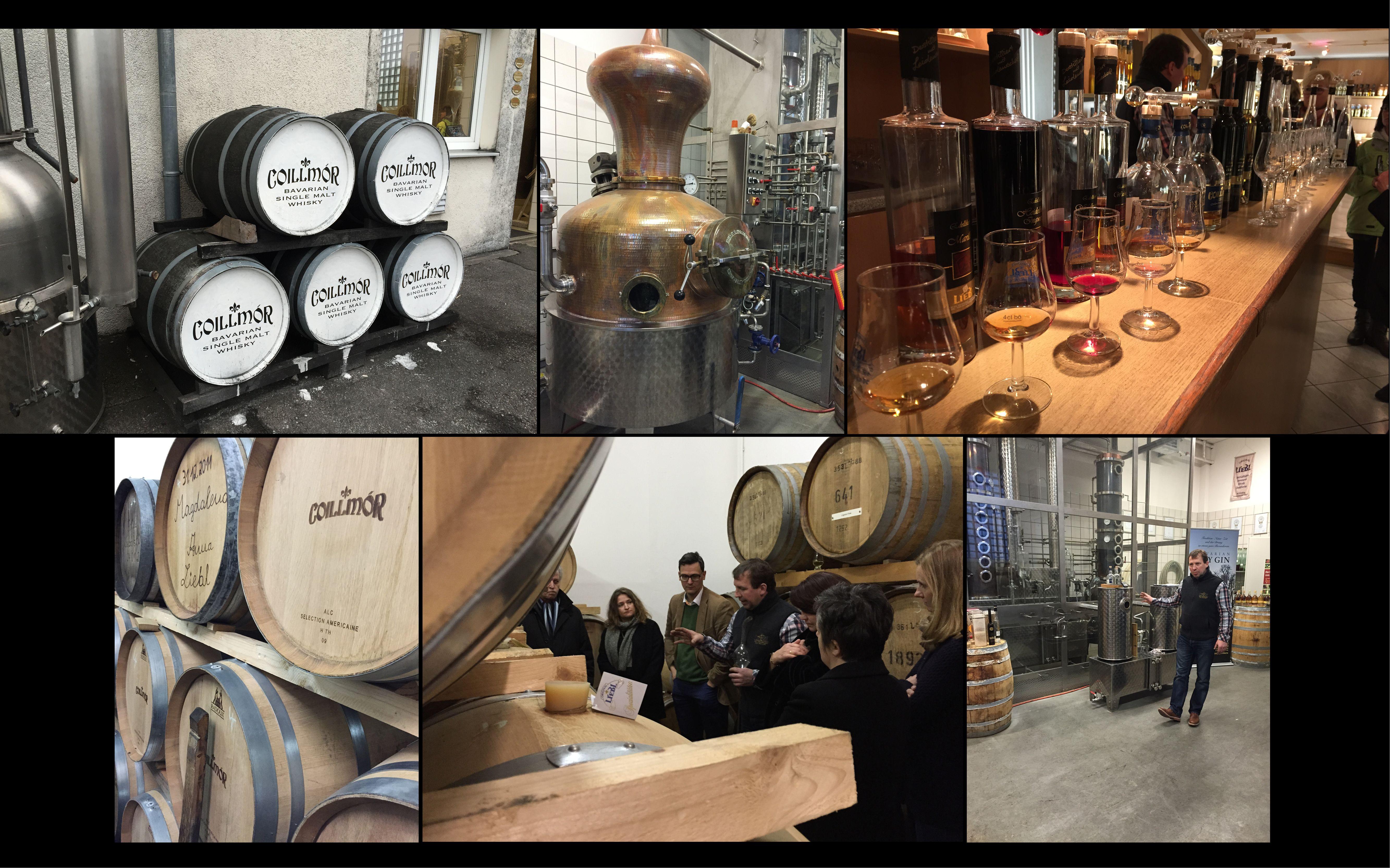 Unser Weihnachtsausflug zur Spezialitätenbrennerei udn Whisky Destillerie Liebl in Bad Kötzing.