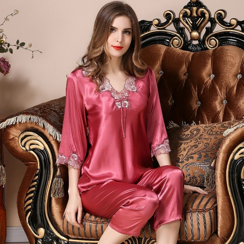 Women Lingerie Ladies Nightie Nightwear Night Dress Silk Robe Gown