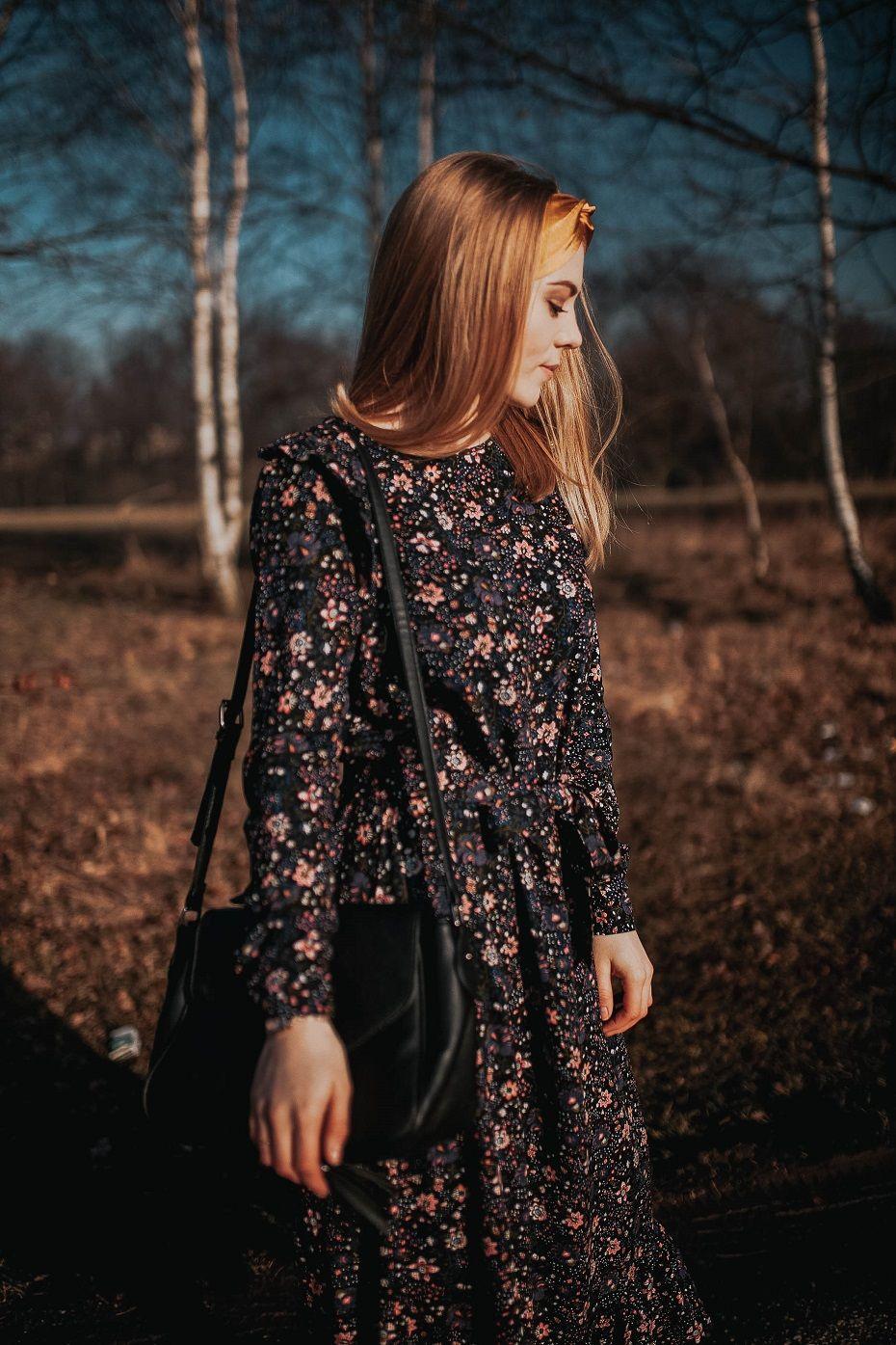 Sukienka W Kwiaty Wiosenna Stylizacja Carry Rozalia Dresses Long Sleeve Dress Dresses With Sleeves