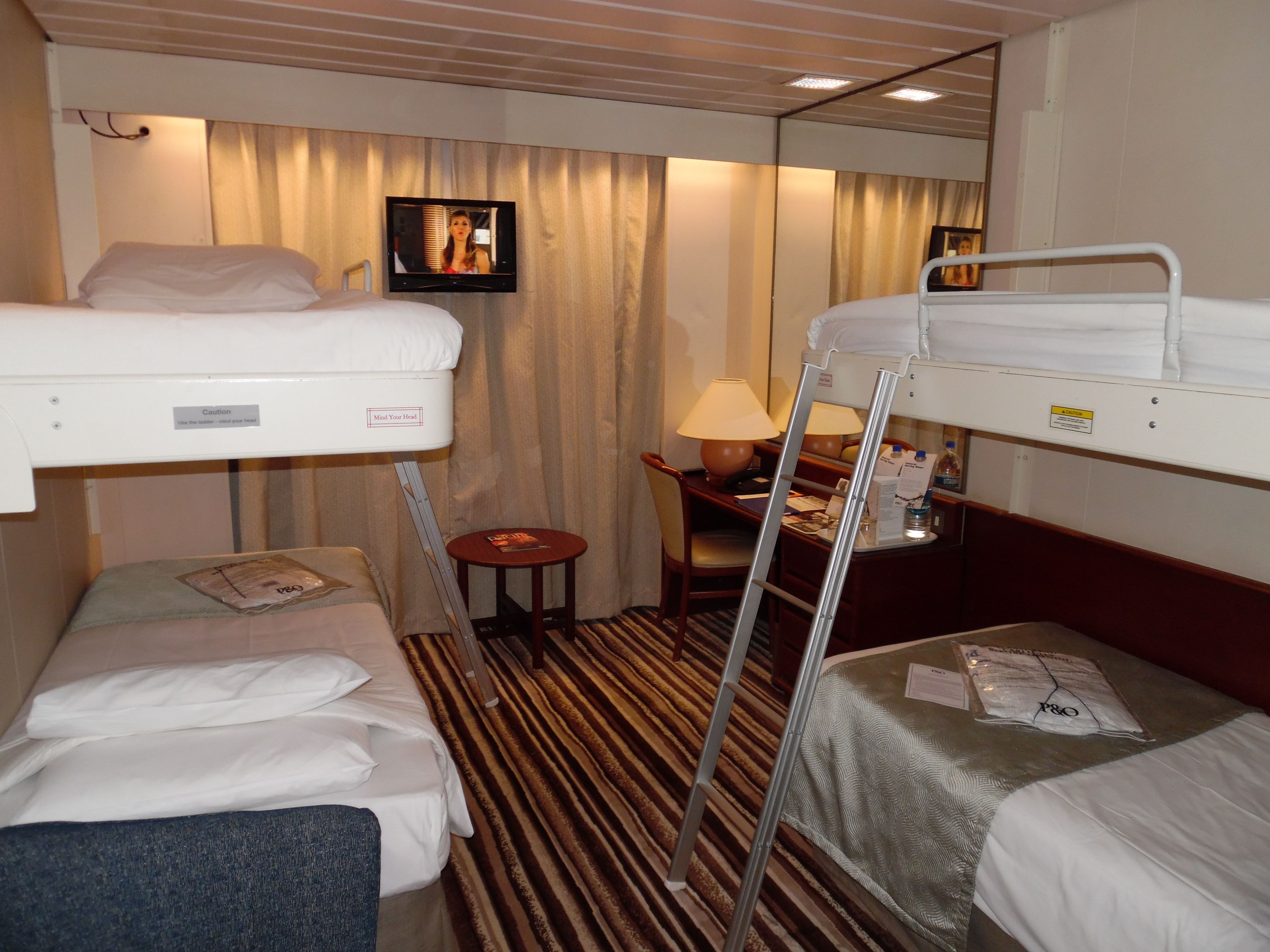 p o pacific pearl cruise ship quad share cabin cruise