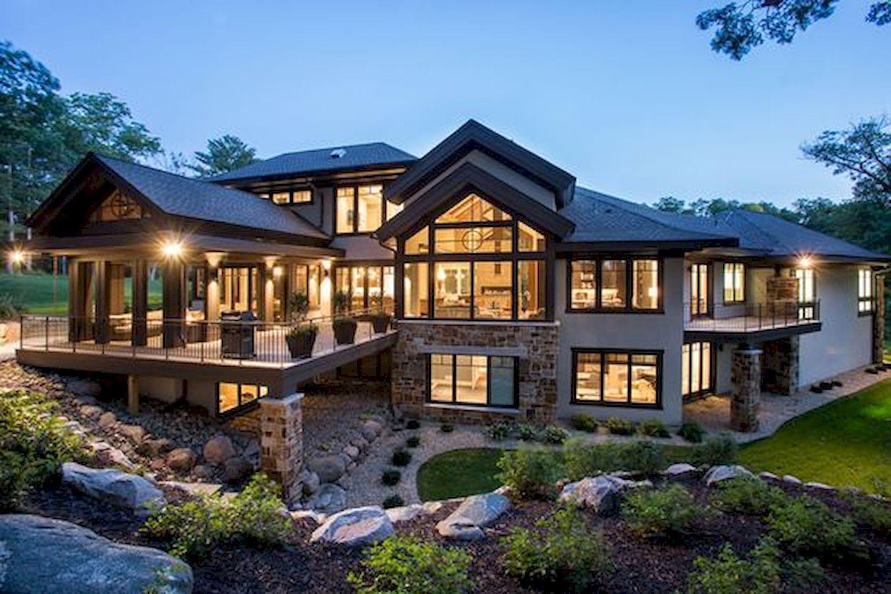 16 Cozy Look Modern Dream House Exterior Design In 2020 Dream House Exterior House Designs Exterior Brick Exterior House