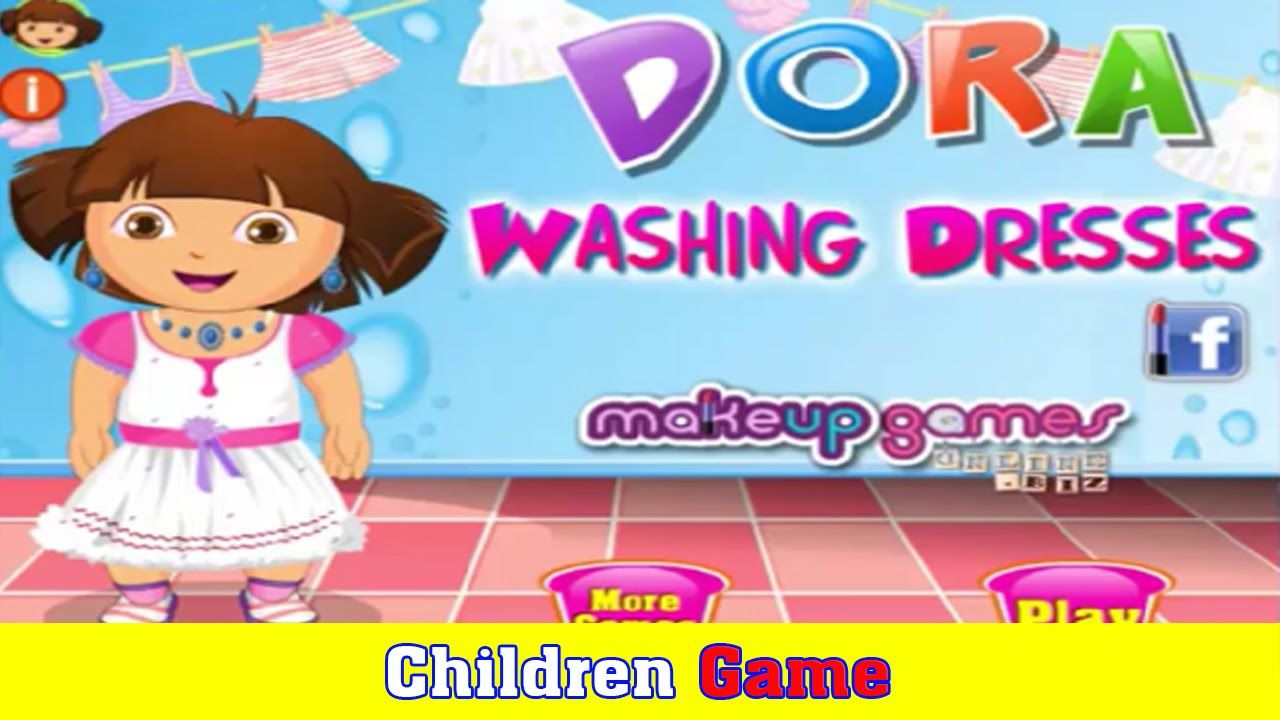 Dora The Explorer Games Laundry Cleaning Time
