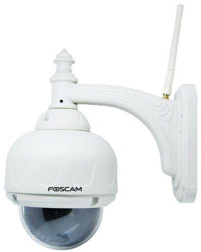 Foscam Fi8919w Outdoor Pan And Tilt Wireless Ip Camera White By Foscam 199 99 Foscam Fi8919w Outdoor Pan A Wireless Ip Camera Ip Camera Ip Security Camera