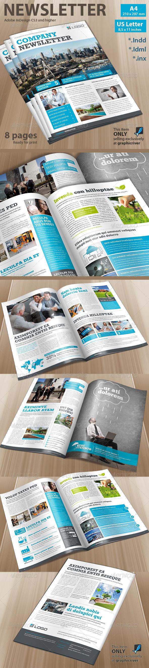 Newsletter Corporate - Newsletters Print Templates | newsletter ...