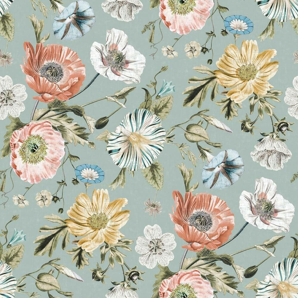 Dutch Vintage Floral Wallpaper Mural Remove Dark Floral Etsy In 2021 Black Floral Wallpaper Large Flower Wallpaper Vintage Floral Wallpapers