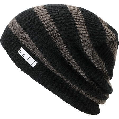 c1ff61c176c Neff Daily Black   Charcoal Stripe Beanie