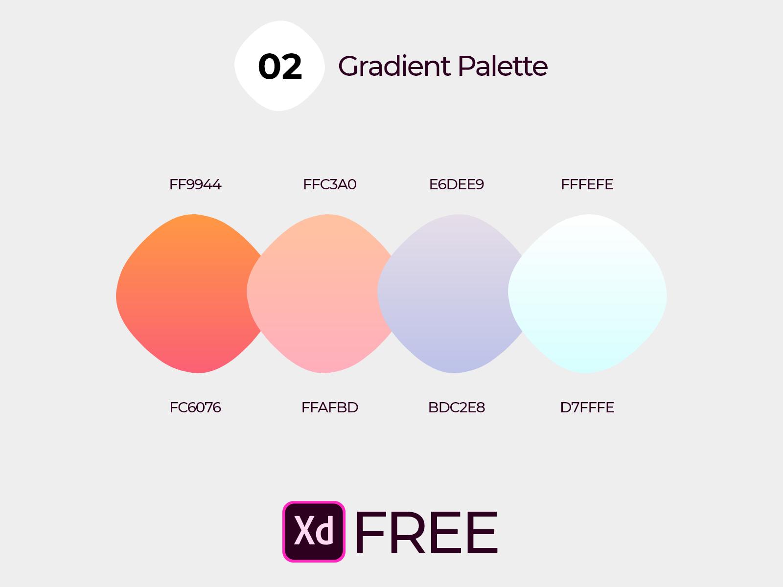 02 Gradients Free Xd Free Chart Pie Chart