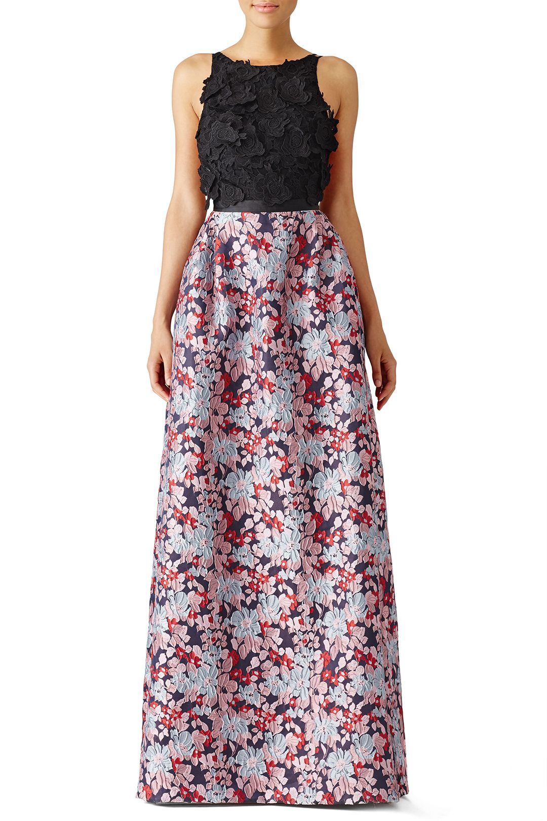 Multi Floral Jacquard Gown | Products I NEED | Pinterest | Monique ...