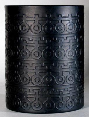 Rosenthal Studio Linie Vase Porcelain Noire Porcelaine Noire