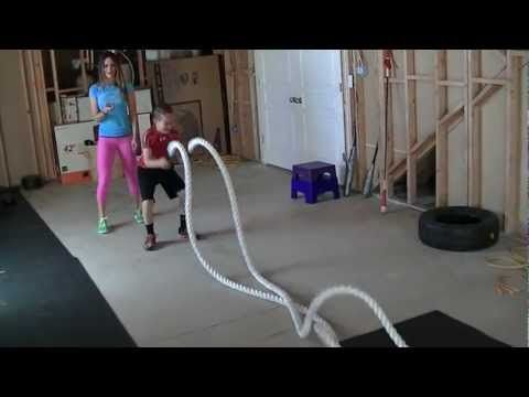 kid rope circuit  at home gym exercise for kids no