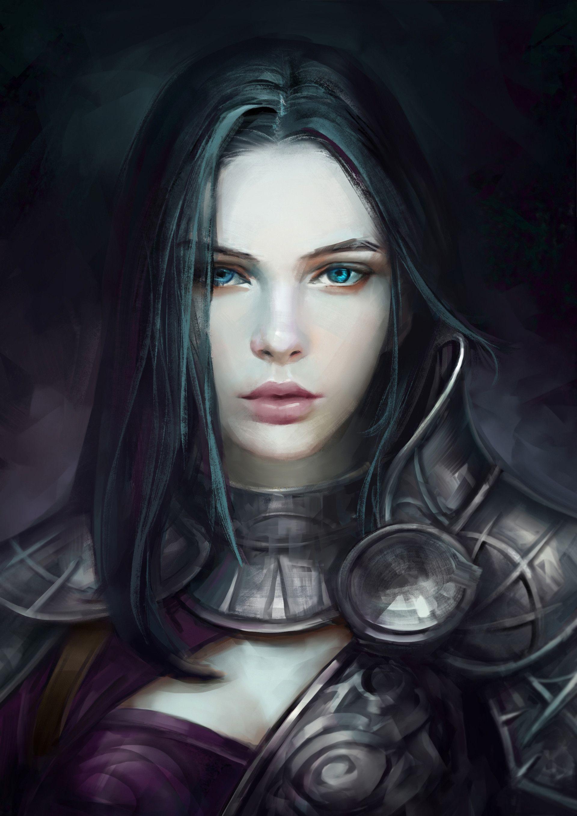 women fantasy eyes blue-#20