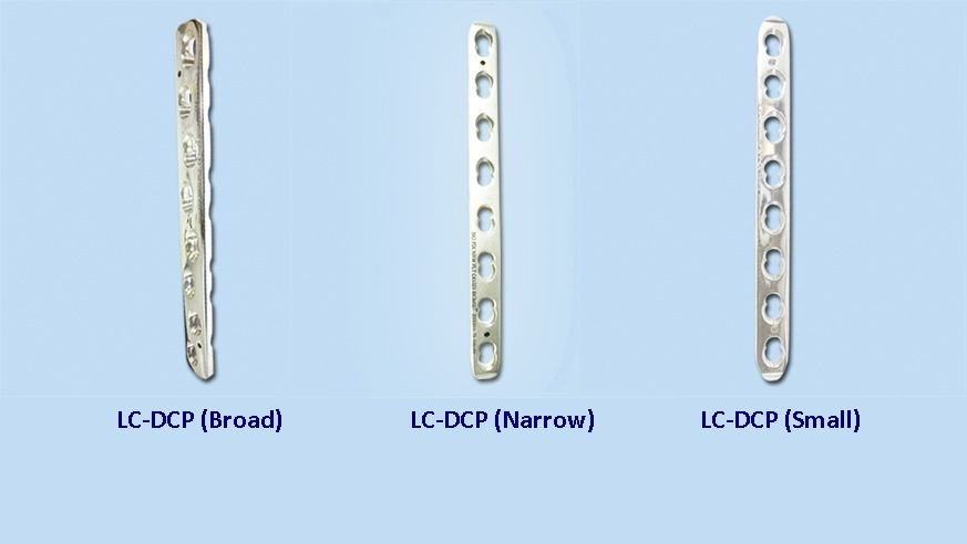 d52ac718c06  Orthopedicimplants -  DCP is stands for Dynamic Compression plate which  are available in 3 sizes  Broad