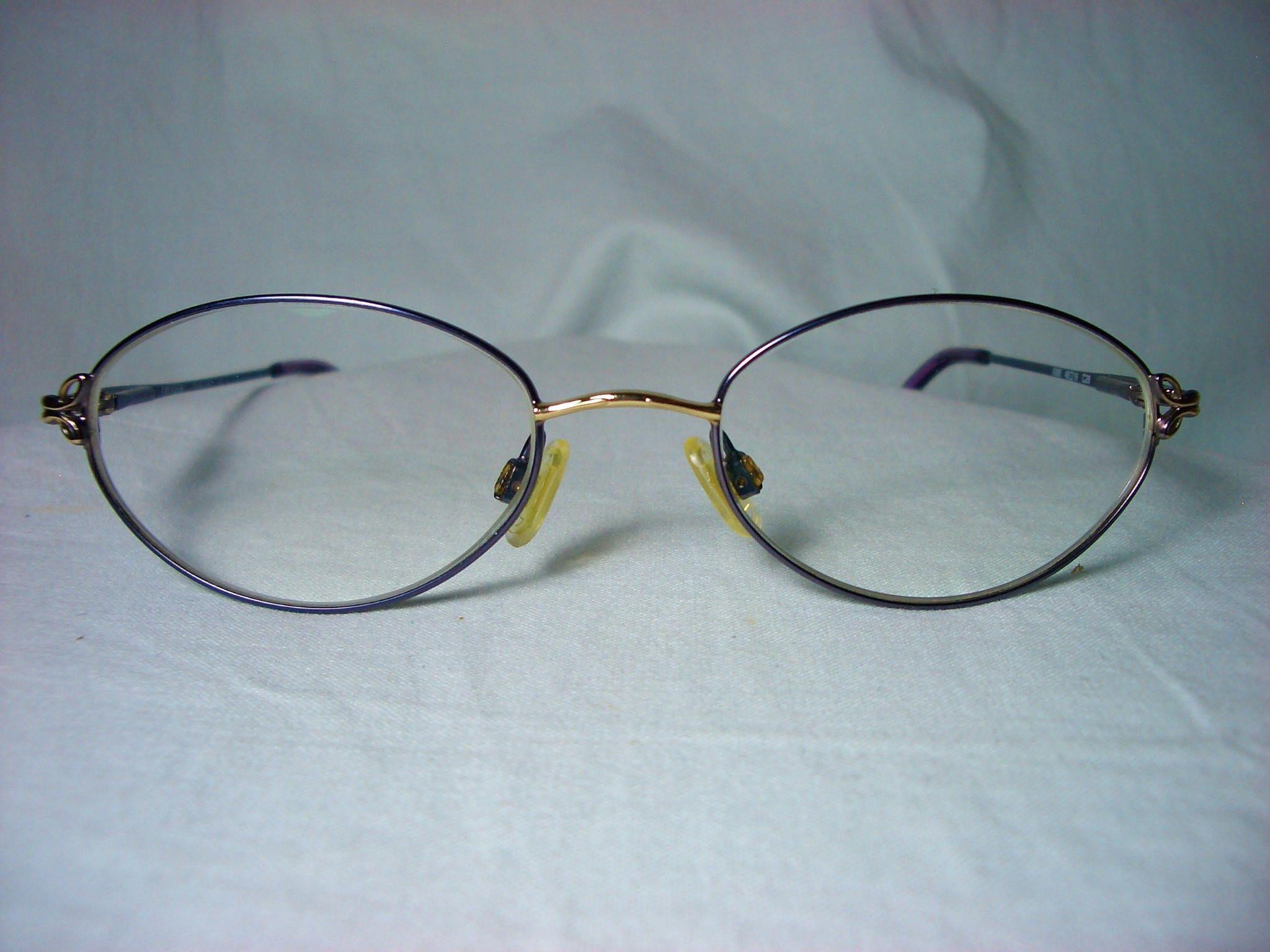 Chevron Italy Round Oval Eyeglasses Frames Women S Vintage
