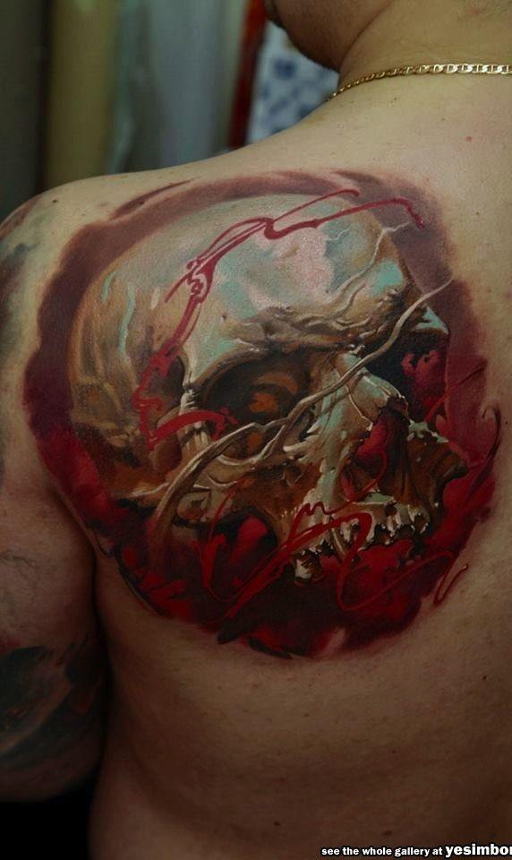 tattoos 3d caveira - Pesquisa Google