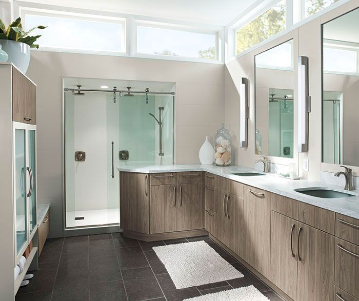 Inspiring Kitchen Craft Bathroom Vanities. Modern Bathroom Cabinets in Thermofoil  Kitchen Craft Cabinetry I m beginning to think have a thing for gray keep being drawn all the photos with Love color of these cabinets and windows