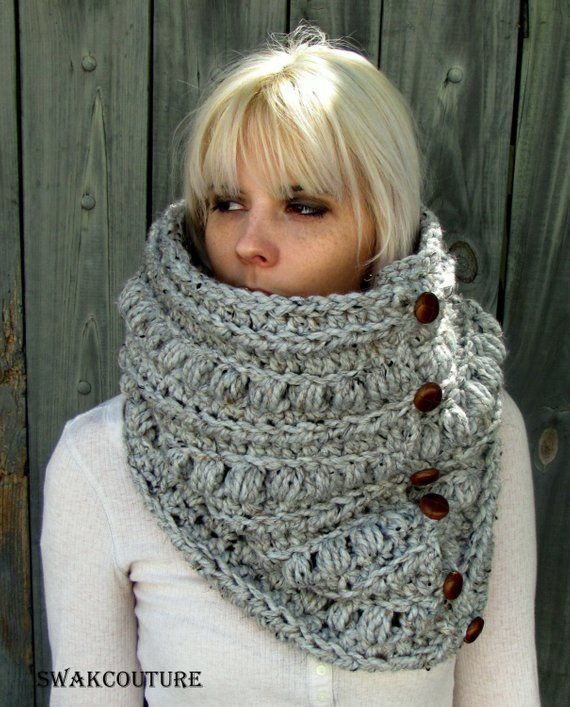 Chunky Cowl Thick Scarf Knit Cowl Gifts For Her Snood Handmade