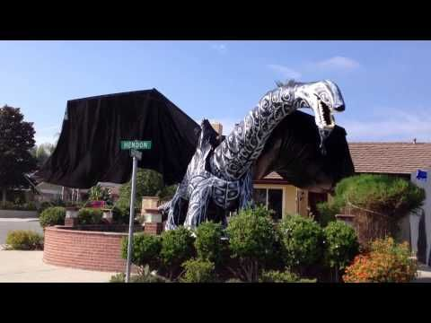 A HUGE Dragon sized Halloween Decoration was a big hit at this - halloween decorations haunted house