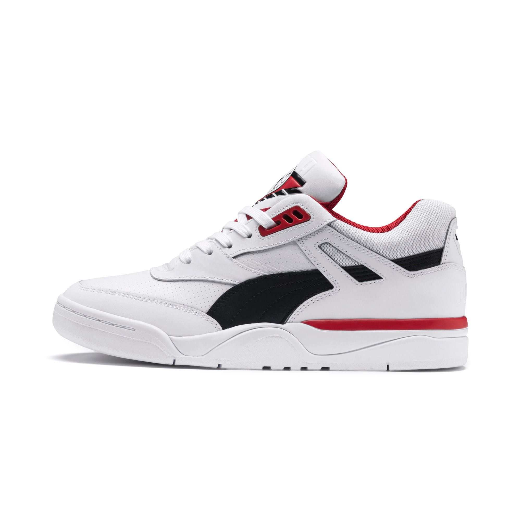 PUMA Palace Guard Basketball Trainers in White/Black/Red size 10.5 #shoewedges