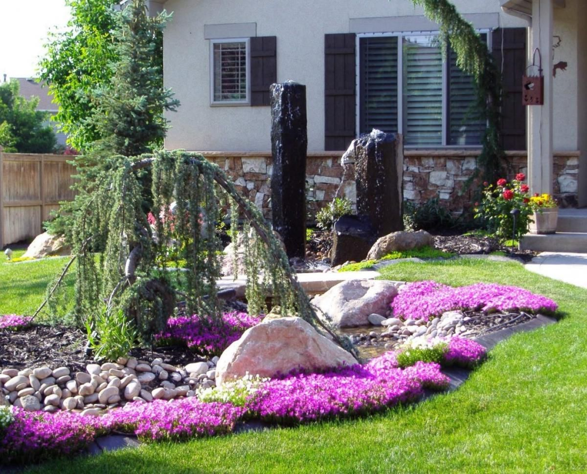 Corking Landscape Ideas For Small Backyards. Home Landscaping, Front ... Gallery