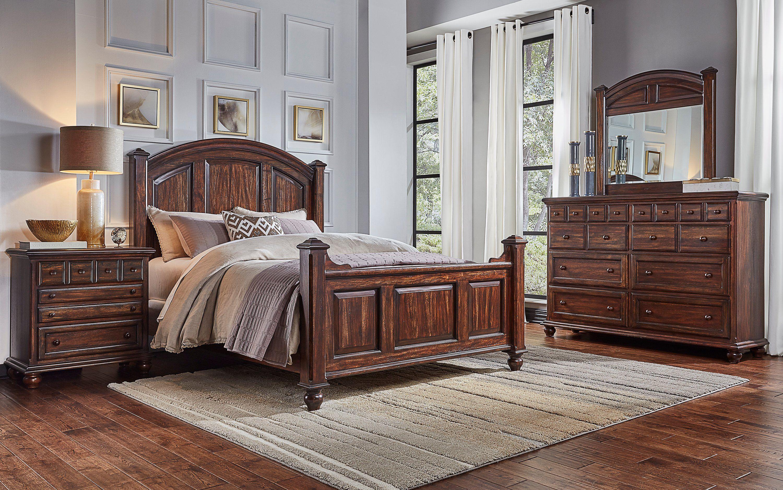 Classic Espresso 4 Piece King Bedroom Set Jamestown in