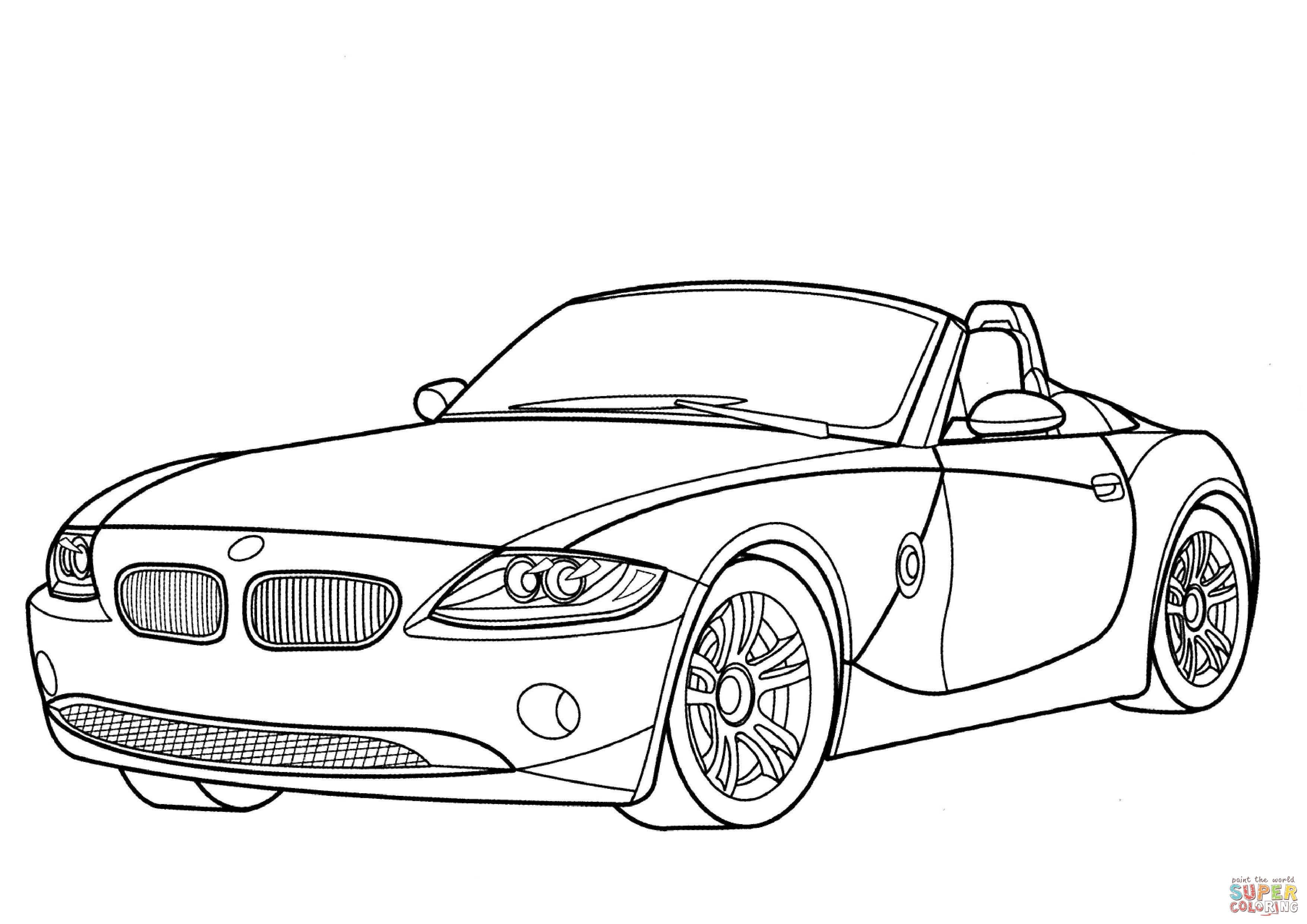 Bmw Z4 Cabriolet Super Coloring Coloring Pages Cars Coloring