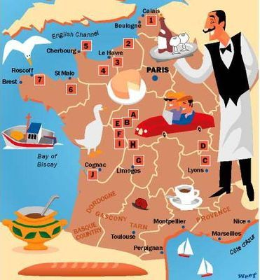 Map of France by David Smith