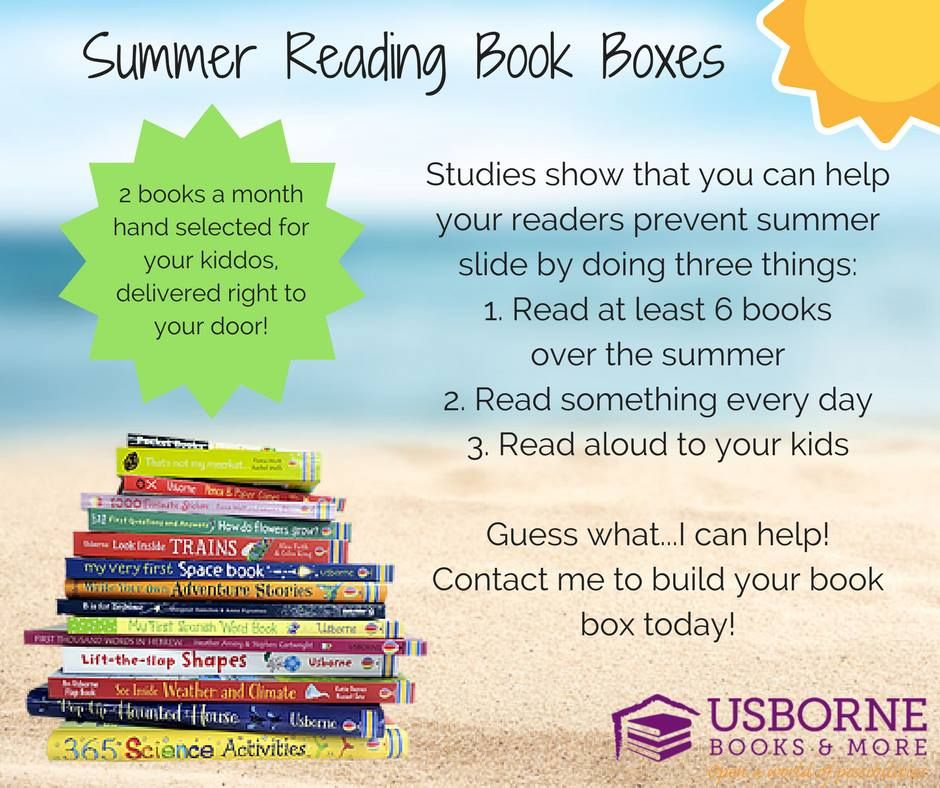 Summer Reading Book Boxes Summer Slide Kids Books Usborne Books