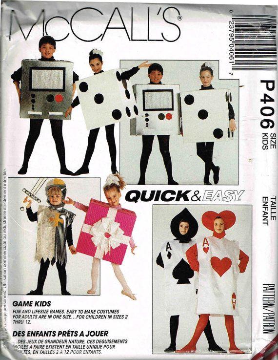 Dice, Ace Card, Present Halloween Costume McCalls P406 6097 Toddler ...