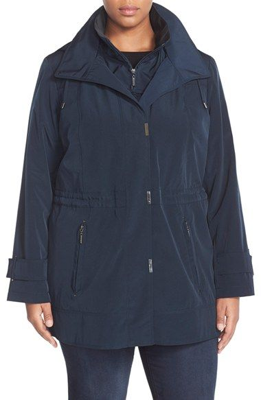 abc8c246279 Gallery Silk Look Anorak (Plus Size) available at  Nordstrom ...