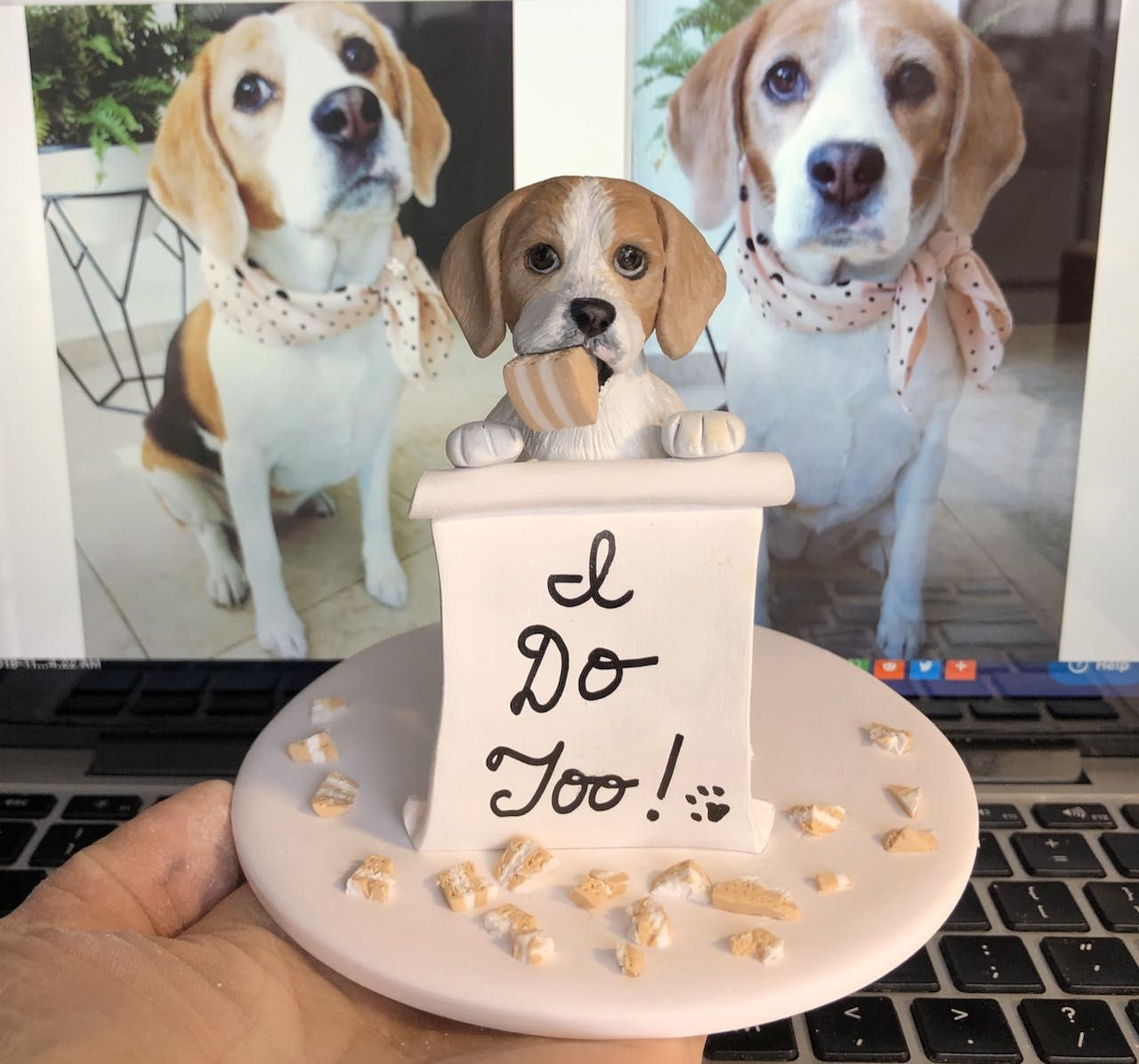 Pin on Custom Pet Wedding Cake Toppers Dogs Cats Animals