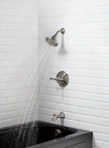 Shower ideas from #kohler Linwood Bath/Shower Faucet. Available ...