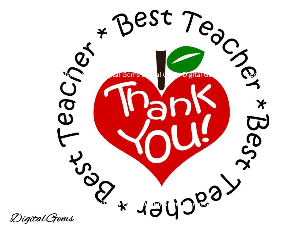 Best Teacher Thank You Teacher Svg Dxf Eps Png Files Etsy Teacher Thank You Teacher Design Best Teacher